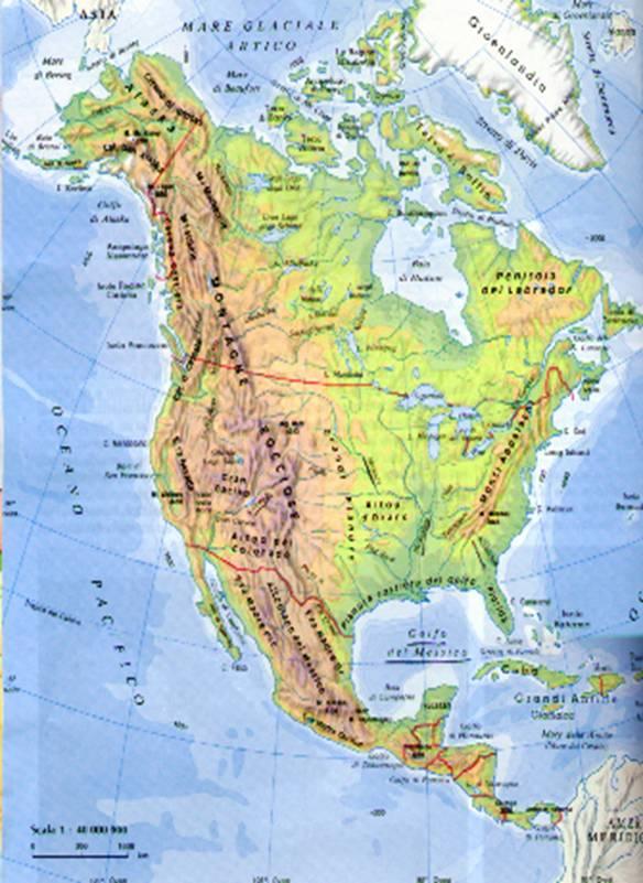 America Settentrionale Cartina.America Settentrionale Lessons Tes Teach