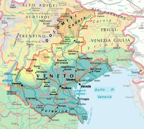 Cartina Geografica Veneto Fisica.Veneto Clima Industria Ed Agricoltura