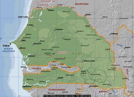 Cartina Fisica Senegal.Senegal Posizione Geografica
