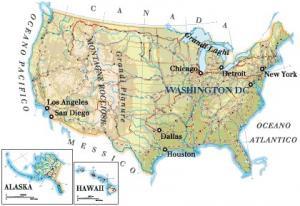 Cartina Fisico Politica Usa.Breve Storia Degli U S A